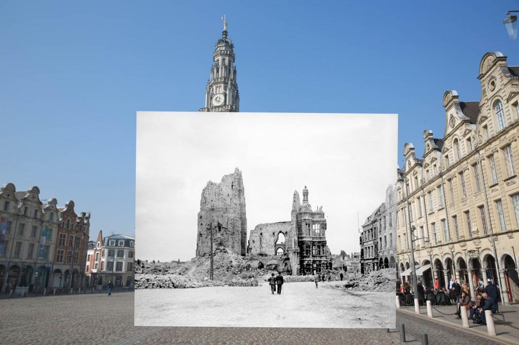 Main Square Jalan main square (Pas-de-Calais), saat perang dunia pertama terjadi hancur lebur akibat serangan bom. Di kota ini enggak ada bangunan satupun yang selamat termasuk gedung walikota dan the belfry of Arras.